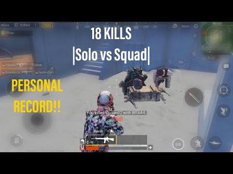 18 Kills Solo Squad Personal Record | PUBG Mobile Asia