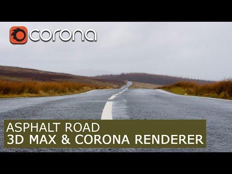 Asphalt road material - Corona Renderer  | 3Ds Max | Tutorials for beginners ARCHVIZ
