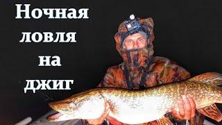 Ловля судака и щуки на джиг ночью рыбалка на спиннинг ночной судак трофейная щука Самара Волга