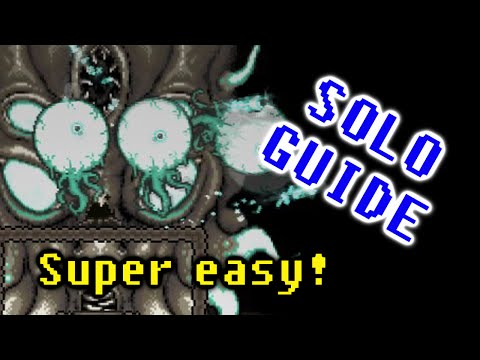 HOW TO SOLO KILL MOONLORD | SUPER EASY & FAST MELEE (Terraria 1.3)