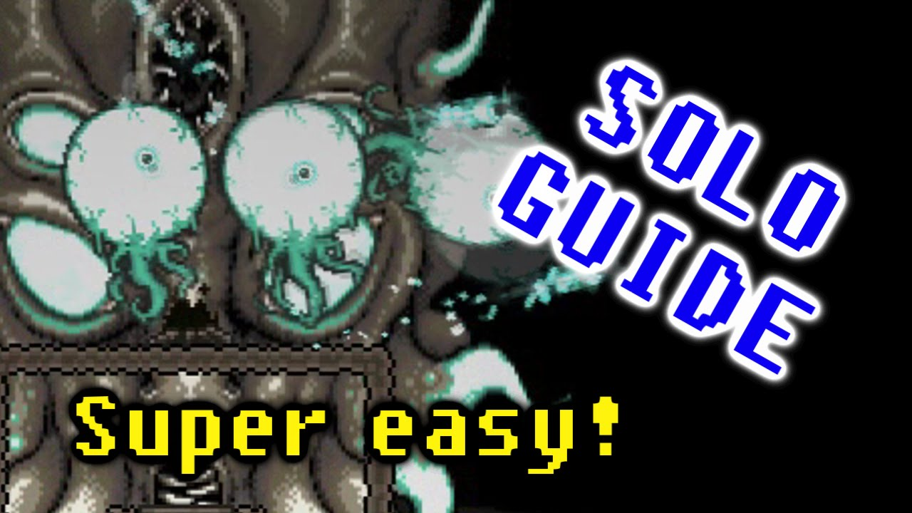 Video - How to solo kill Moon Lord super easy & fast melee
