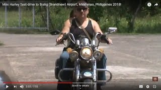 Mini Harley Test-drive to Bislig (Brandnew) Airport, Mindanao, Philippines 2018!