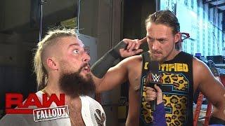 Enzo Amore & Big Cass feiern den Sieg gegen Karl Anderson: Raw Fallout, 24. Oktober 2016