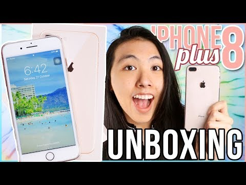 📲IPHONE 8 PLUS UNBOXING + REVIEW 2017 | WHAT'S ON MY IPHONE? IOS 11 FIRST IMPRESSIONS😍 Katie Tracy