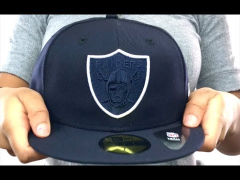 355018fa6e7 Raiders  TONAL-POP  Navy-White Fitted Hat by New Era - YouTube