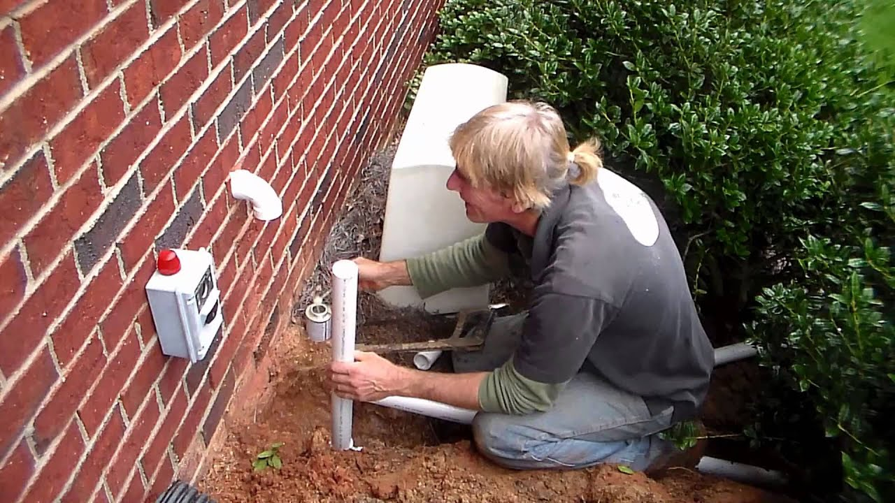 How To Install Sump Pump Discharge Through Brick Wall Do
