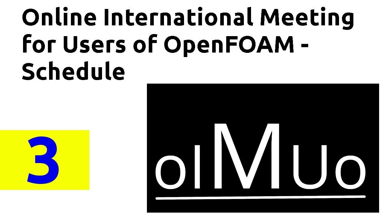 Online International Meeting for Users of OpenFOAM II - Schedule