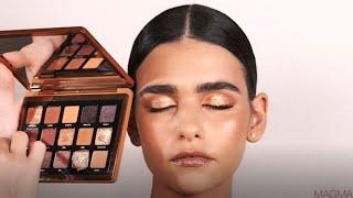 How-To Tutorial: Create a Modern Glam Look using the BRONZE EYESHADOW PALETTE  Natasha Denona Makeup