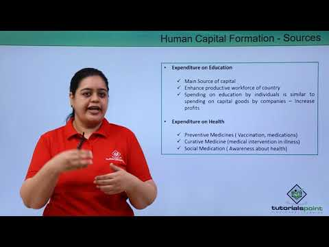 Human Capital Formation - Sources
