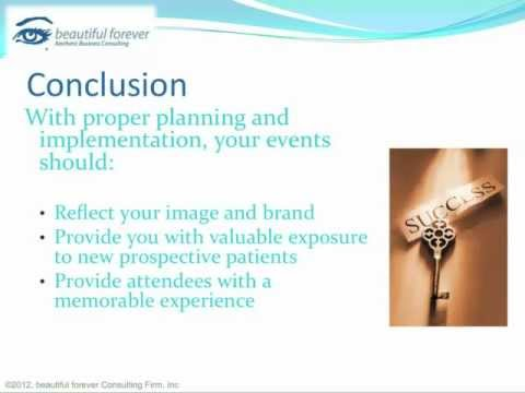 Aesthetic Business - Planning a Successful Event- Part 18 - Event Review