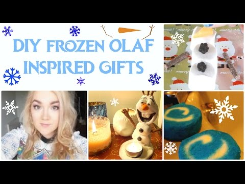DIY Olaf Inspired Gifts ❄ Bubblebars, Candles and more!!! ❄
