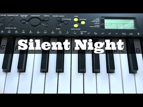 Silent Night | Easy & Simple Keyboard Tutorial With Notes (Right Hand)