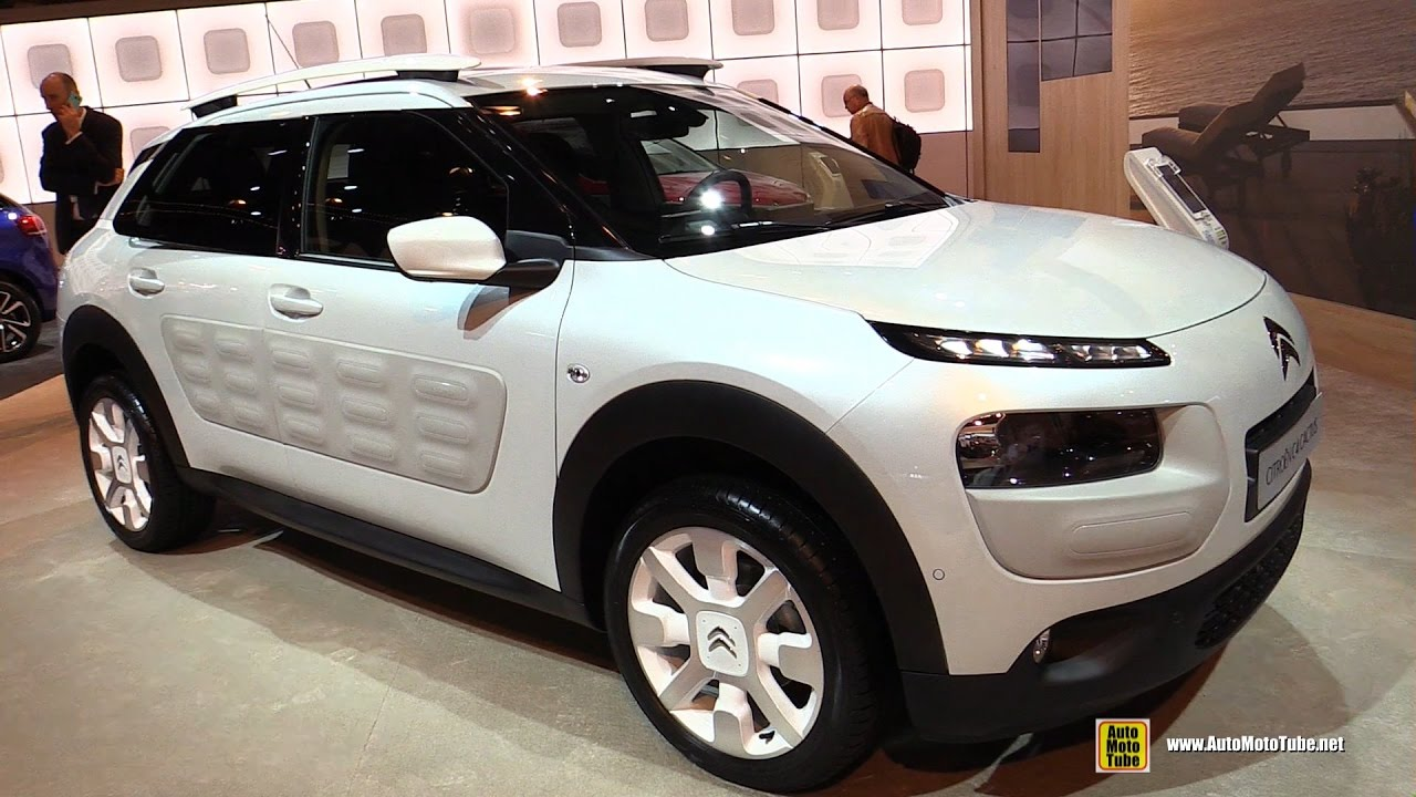 2017 citroen c4 cactus 100hp diesel exterior and interior walkaround 2016 paris motor show. Black Bedroom Furniture Sets. Home Design Ideas