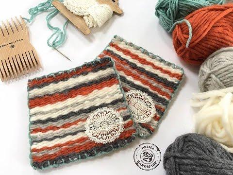 Prima DT Fiber arts loom DIY woven coasters