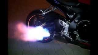 suzuki gsx r gsxr k6 k7 ogień z wydechu tłumik przelotowy scorpion