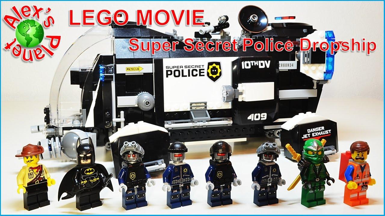 Lego Movie Super Secret Police Dropship 70815 Build Review