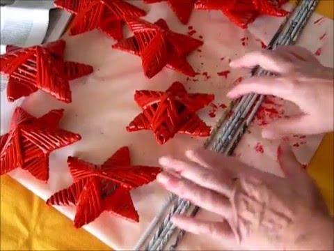 Estrellas navide as con tubos de papel de peri dico c mo - Estrellas de papel para navidad ...