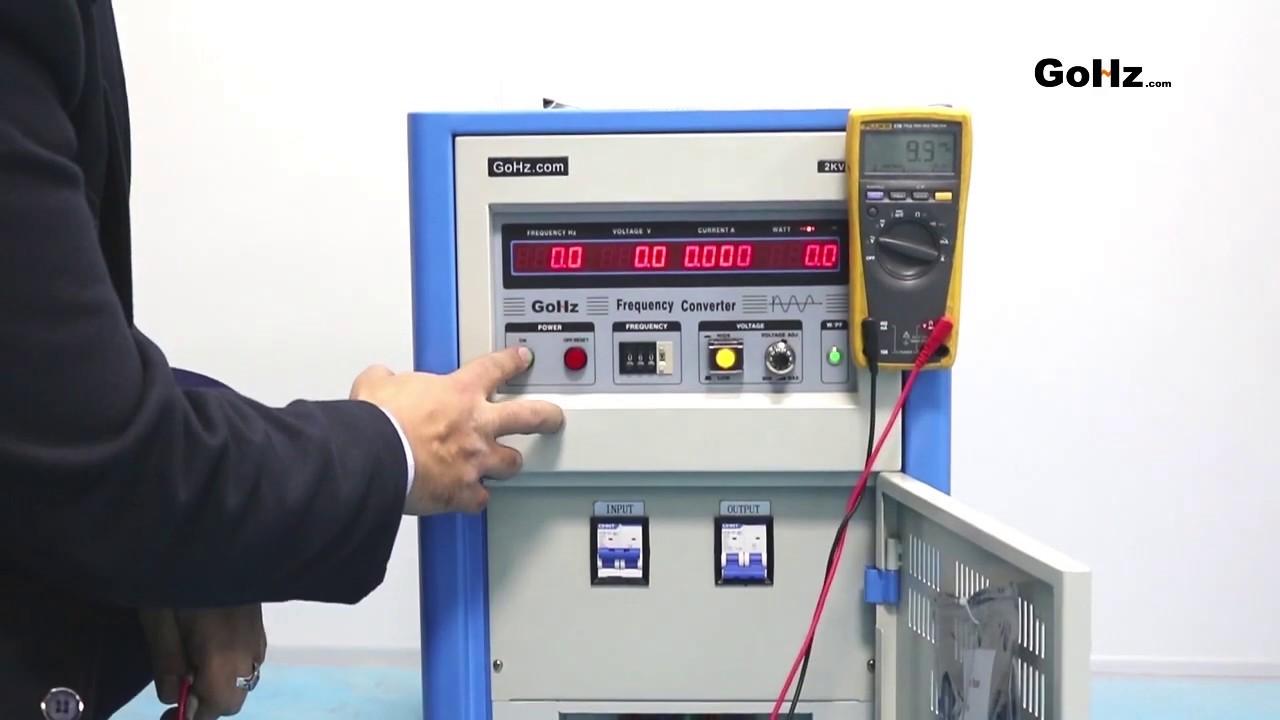 110v 60Hz to 220v/230v/240v 50Hz Converter
