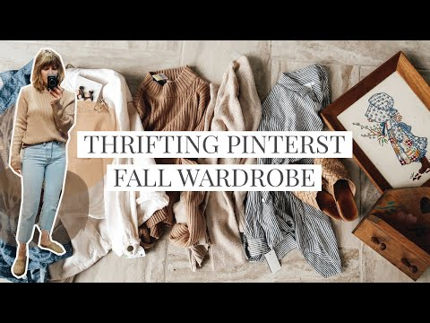 Thrifting My Fall Pinterest & Instagram Wardrobe Inspiration