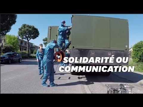 Coronavirus: pourquoi l'armée russe désinfecte Brescia en Italie