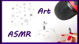 ASMR Doodle Stars (drawing, doodling, tingles, zentangle, relaxing sounds)