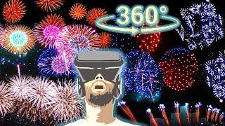 ❤Панорамное Видео 360 VR 4K. Японский фейерверк \Круг света\ закрытие 2018. Салют 360 Гребной канал