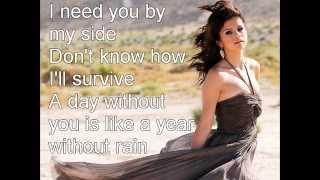 Selena Gomez-A year without rain Lyric Video (karaoke)