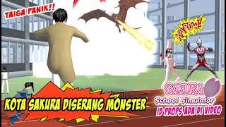 Taiga Panik!! Sakura diserang Dragon ULTRAMEN - SAKURA SCHOOL SIMULATOR INDONESIA