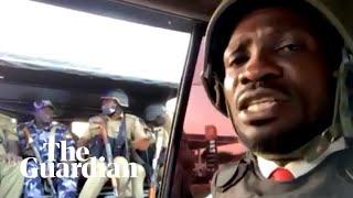 Ugandan police confront Bobi Wine during online press conference