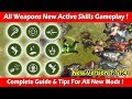 All Weapons New Active Skills Gameplay & Guide (1.11.4)! Last Day On Earth Survival