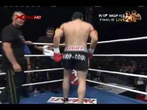 Осетин Руслан Караев и Куотаро Сеоул 26 09 2009 Финал    Часть 1       Ossetian Fighter Ruslan Karaev