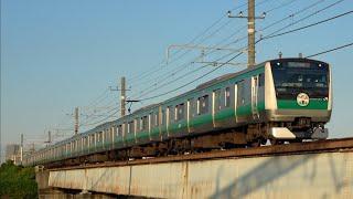 E233系ハエ127編成(川越線80周年記念ヘッドマーク付き)相鉄・JR直通線(貨物線区間)を走行