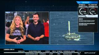 SpaceX CRS-8 Drone-ship landing