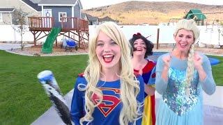 Superhero Compilation Spiderman in love Ugly Elsa vs Harley Quinn & Disney Princesses vs poison ivy