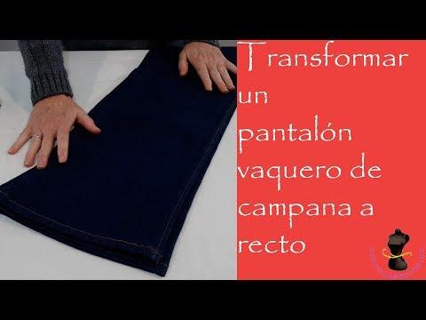 0698c07374 Transformar un pantalón vaquero de campana a recto - YouTube