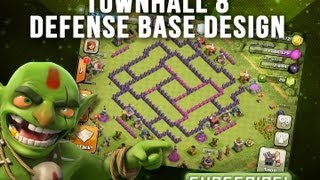 Repeat youtube video TownHall 8 Trophy Base -  The Hurricane -  Clash of Clans