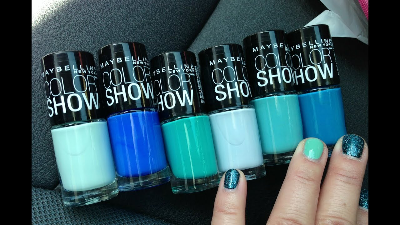 New Maybelline Limited Edition Summer 2017 Color Show Polish Haul You