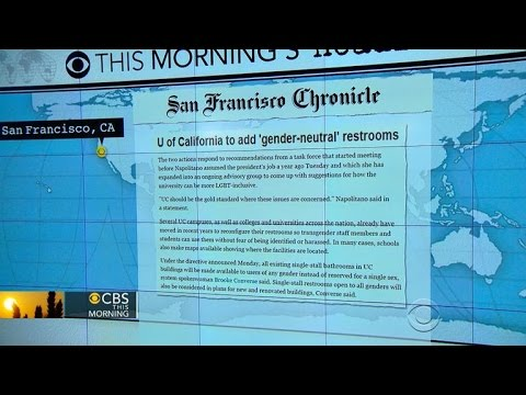 Headlines at 8:30: University of California creates more gender-neutral restrooms