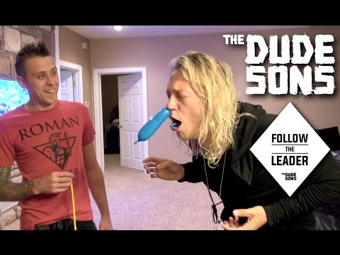 Pushing A Balloon Through Nose Challenge with Roman Atwood | Follow The Leader