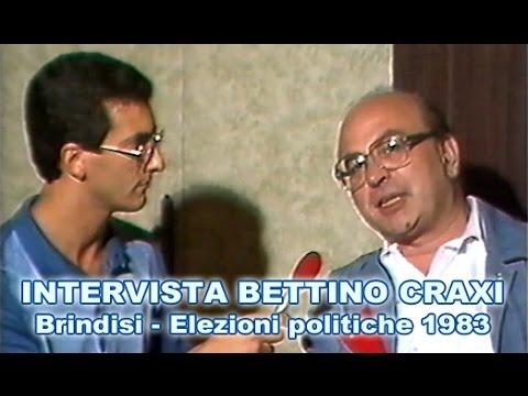 Brindisi: elezioni politiche 1983, intervista a Bettino Craxi