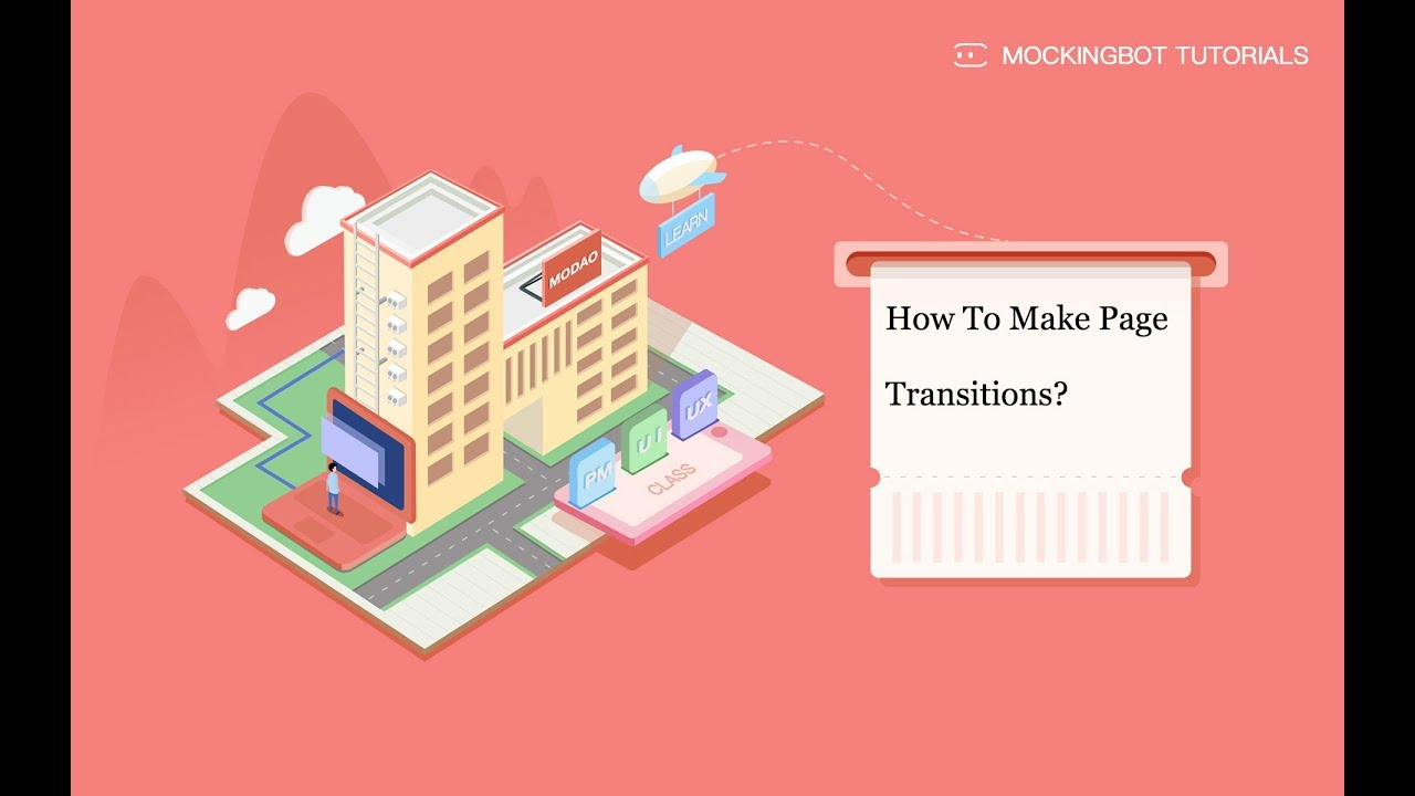 How To Make Page Transitions ---MockingBot Tutorial