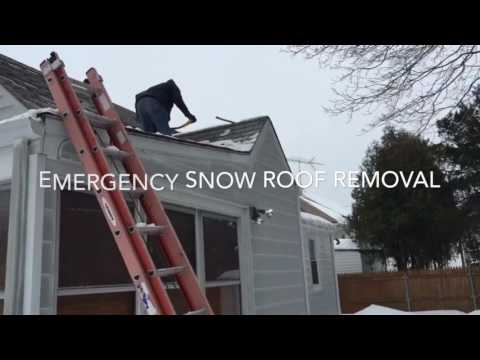 ROOF SNOW REMOVAL SHARON MA 💥 KAC CONST. (617)544-5084