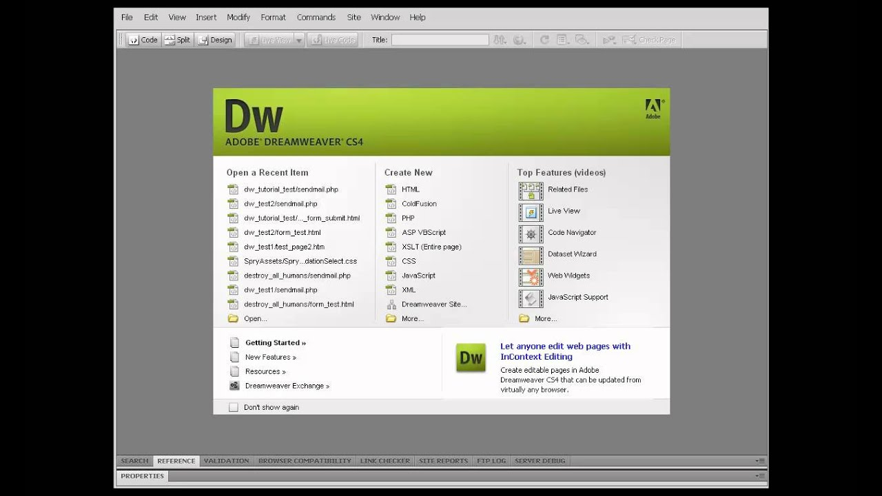 Dreamweaver tutorial: tag hierarchy in dreamweaver.