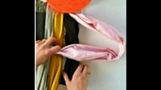 как сделать теплый коврик из нарезанных ниток