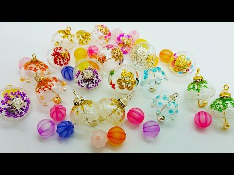 レジンでミニの立体傘チャーム♪resin♪Mini three-dimensional umbrella charm with resin ♪