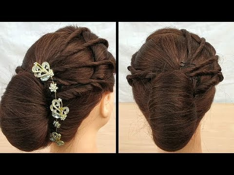 Beautiful hairstyle for wedding \function     Easy wedding hairstyles tutorial    cute hairstyles thumbnail