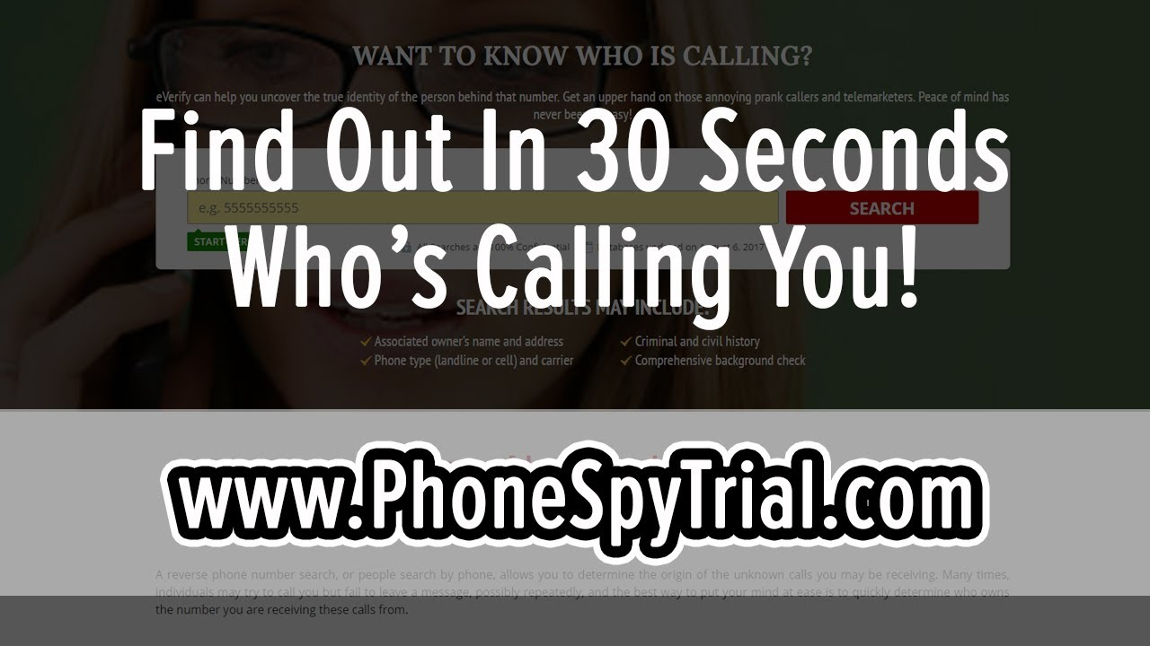 Who Is Calling Me From This Number - 30 Seconds Reverse Phone Lookup