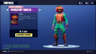 NEW SKIN MONSIEUR TOMATE ON FORTNITE