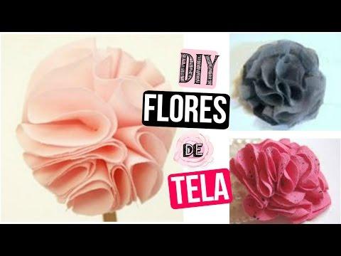 Como hacer flores de tela accesorios lindos para el - Como hacer cuadros de tela ...