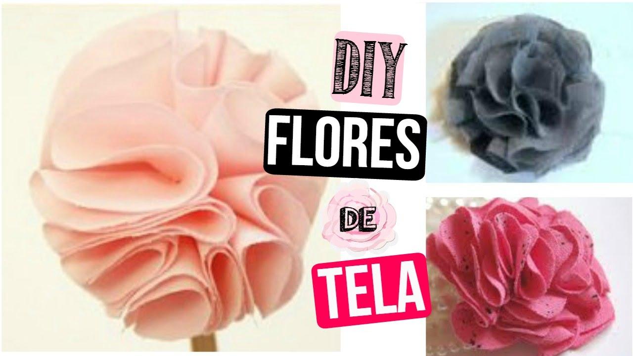 Como hacer flores de tela accesorios lindos para el for Diademas de tela para el cabello